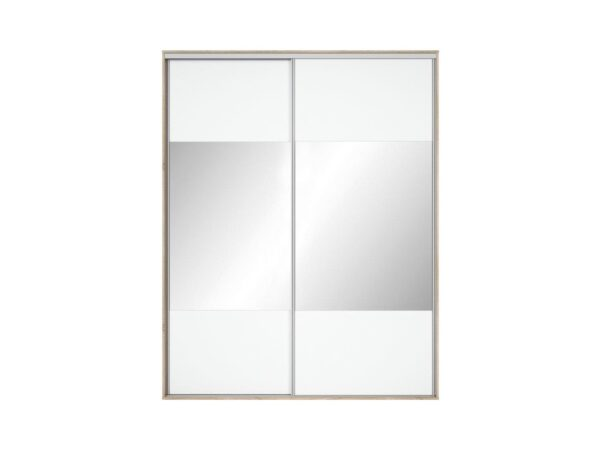 Front dulap Nadir 190-200 alb-oglinda