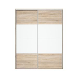 Front dulap Nadir 190-200 stejar sonoma-alb lucios
