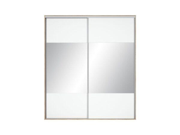 Front dulap Nadir 210-220 alb-oglinda