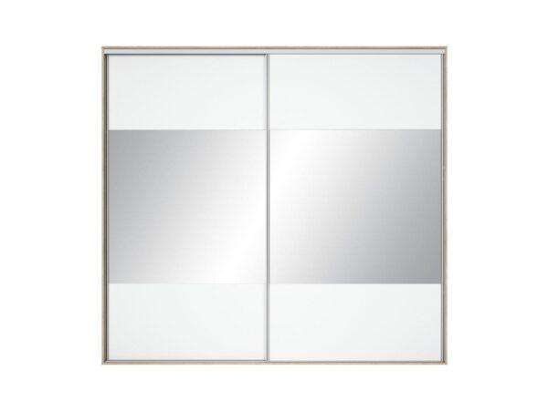 Front dulap Nadir 250-260 alb-oglinda